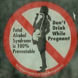Don't Drink While Pregnant Sign