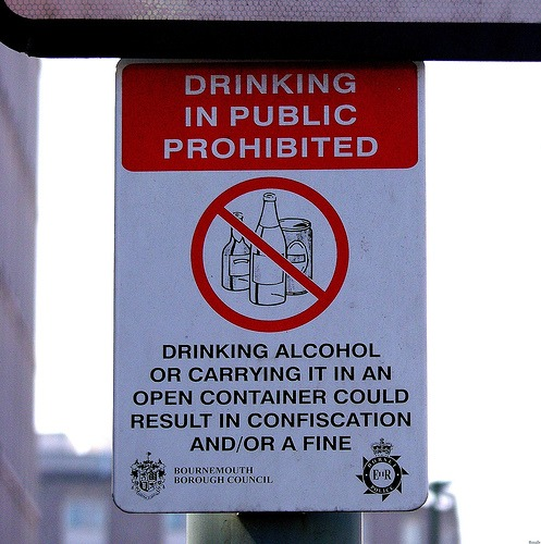 Open Container Law Sign