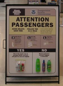 Rules for bringing liquids on planes