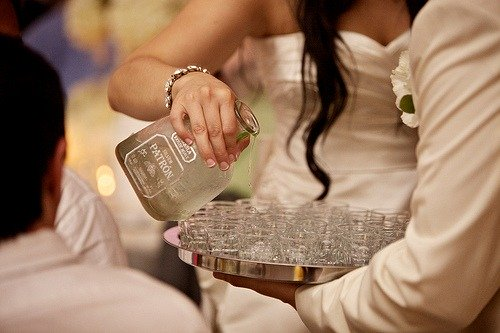 Tequila at a wedding