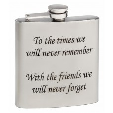 Personalized 6oz Mirror Polished Hip Flask