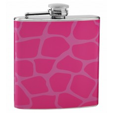 Giraffe Print 6oz Hip Flask