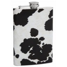 8oz Cow Print Hip Flask