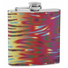 Tiger Print Psychedelic 6oz Hip Flask
