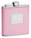 6oz Pink Crystal Flask for Women