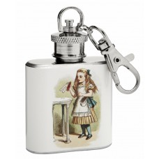 "1oz ""Alice in Wonderland"" Mini Key Chain Flask"