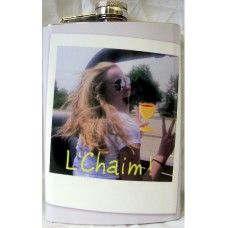 "8oz ""Create Your Own"" Hip Flask with Photo or Picture"