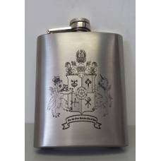 12oz Stainless Steel Hip Flask - Laser Engraved