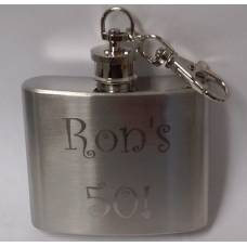 2oz Engraved Keychain Flask