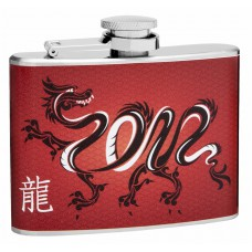4oz Chinese Dragon Hip Flask
