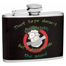 "4oz ""Duct Tape Can't Fix Stupid"" Hip Flask"