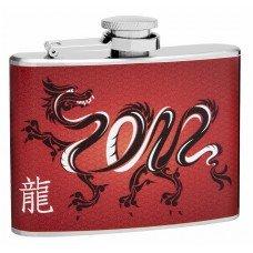 4oz Chinese Dragon Hip Flask