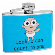 "4oz ""I Can Count To One"" Hip Flask"