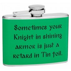 4oz Knight in Armor Hip Flask