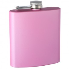 "6oz ""Pearlized"" Painted Flask, Pink"