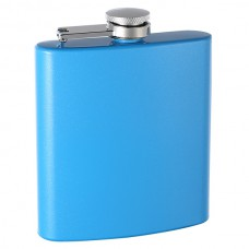 6oz Custom Glitter Paint Flask, Sky Blue
