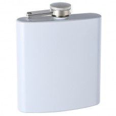 6oz Custom Glitter Paint Flask, White