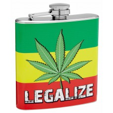 6oz Legalize Marijuana Hip Flask