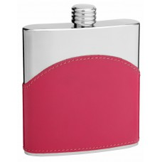 6oz Pink Stainless Steel Hip Flask