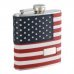 SAVE 32% 6oz Monogrammed American Flag Flask
