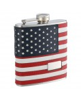 SAVE 32% 6oz Monogrammed American Flag Flask