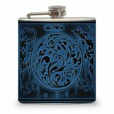 6oz Vintage Blue Design Flask