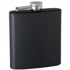 "6oz ""Pearlized"" Painted Flask, Black"