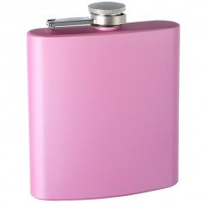 """6oz """"Pearlized"""" Painted Flask, Pink"""