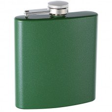 6oz Custom Glitter Paint Flask, Green