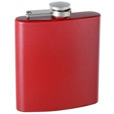 6oz Custom Glitter Paint Flask, Red