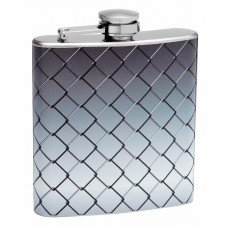 6oz Chain Link Fence Personalized Hip Flask
