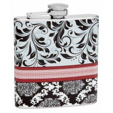 6oz Elegant Floral Pattern Design Hip Flask