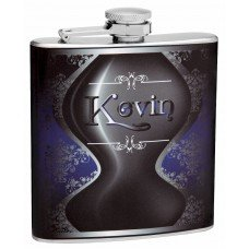 6oz Decanter Style Hip Flask with Custom Name