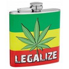 6oz Legalize Marijuana Hip Flask