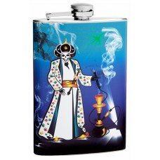 8oz Skeleton Hookah Smoker Hip Flask