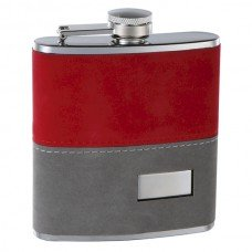 6oz 2-tone Felt Wrapped Hip Flask with Personalization