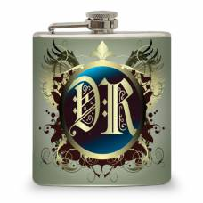 6oz Flask with your initials