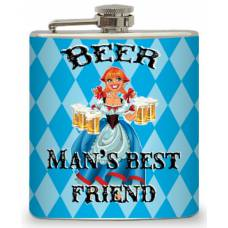 "6oz ""Man's Best Friend"" Flask"