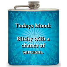 "6oz ""Today's Mood"" Flask"
