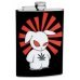 8oz Stoned Ninja Bunny Marijuana Hip Flask
