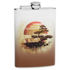 8oz Bonsai Tree Hip Flask