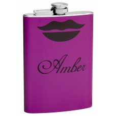 8oz Flask with Sexy Lips and Personalization