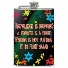 "8oz ""Knowledge and Wisdom"" Flask"
