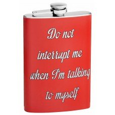 8oz Do Not Interrupt Funny Quote Flask