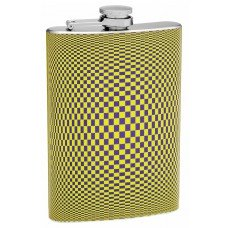 8oz Hip Flask with Cool Optical Illusion