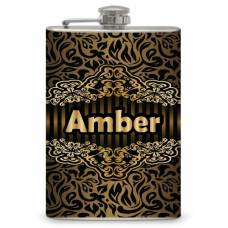 """8oz """"Your Name"""" Flask with Victorian Design"""