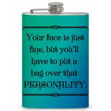 "8oz ""Bag your Personality"" Flask"