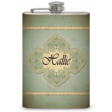 8oz Classic Themed Personalized Flask