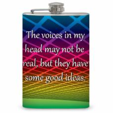 "8oz ""Voices in my head"" Flask"