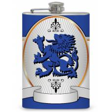 8oz Regal Lion Flask with personalization